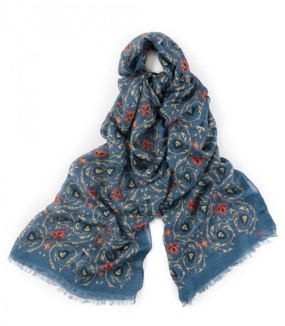 Drake-s-Blue-Victorian-Floral-Print-Modal-and-Linen-Scarf-SK01.17335.002-31