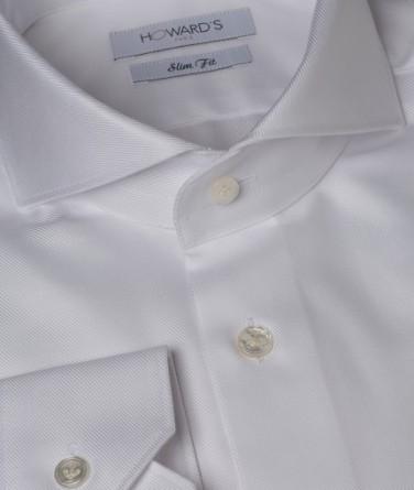 chemise-cintree-col-cut-away-en-serge-blanc