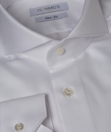 chemise-cintree-col-cut-away-en-serge-blanc